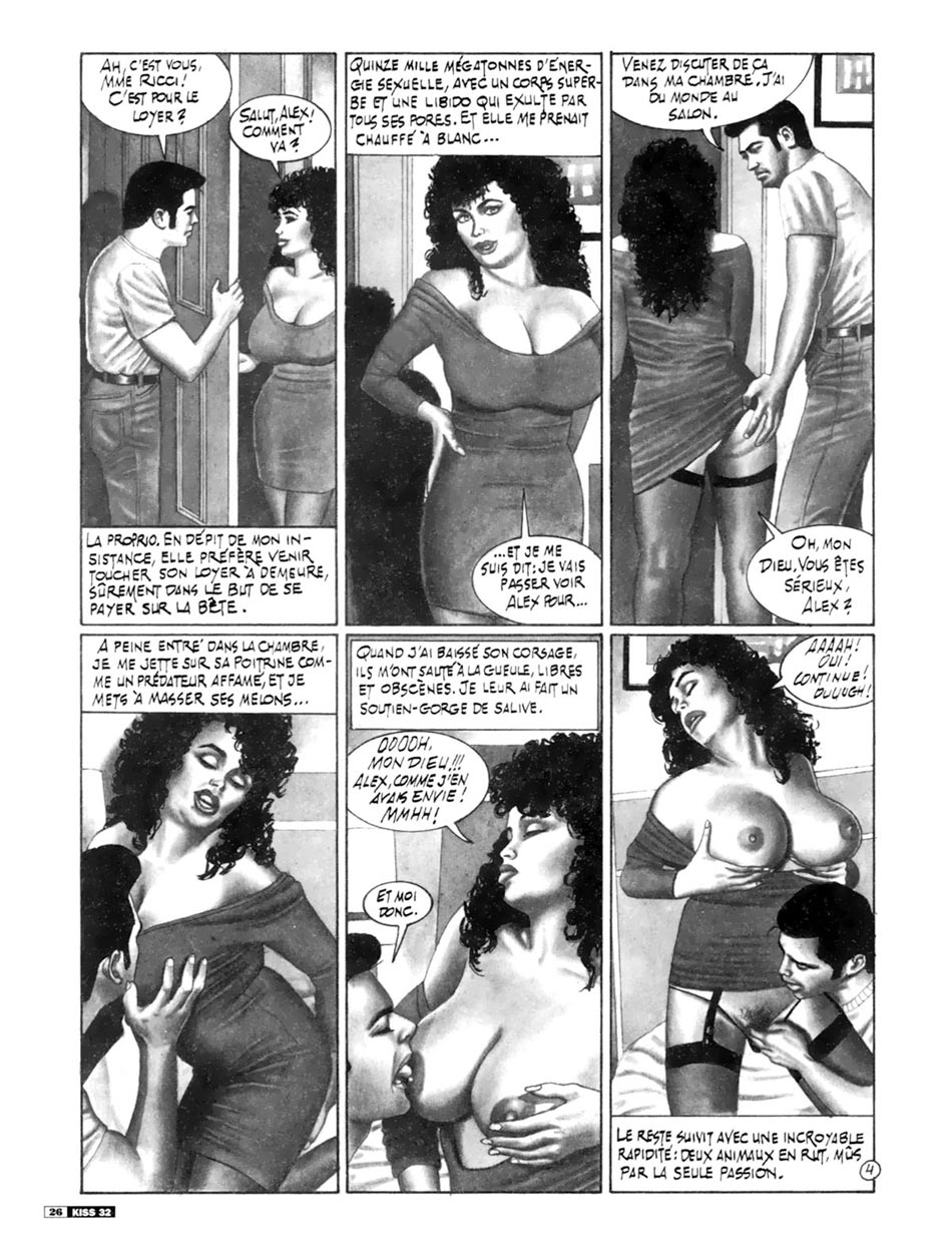 French Kiss - Classic porn comics in high quality